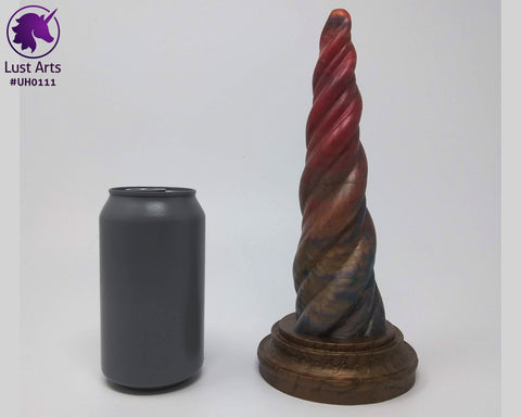 Preview photo of pre-made toy next to a standard size soda can for scale