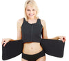 Sauna Vest with Adjustable Waist Trimmer