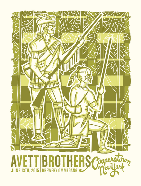 AVETT BROTHERS 2015 Cooperstown New York Poster