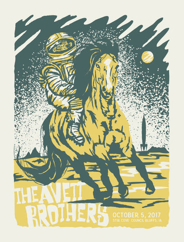 AVETT BROTHERS 2017 Council Bluffs Poster