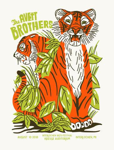 AVETT BROTHERS 2018 Interlochen Michigan Poster