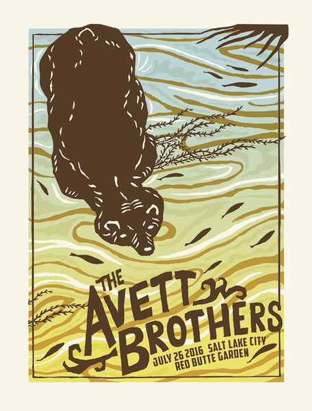AVETT BROTHERS 2016 Salt Lake City Poster