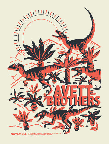 AVETT BROTHERS 2015 South Bend Poster