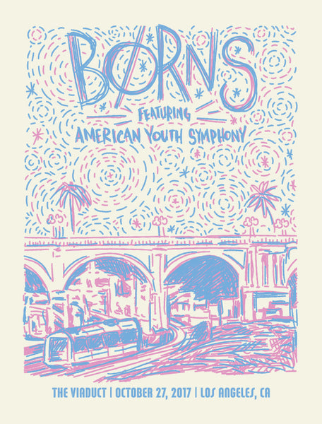 B0RNS - Live at the Viaduct Poster