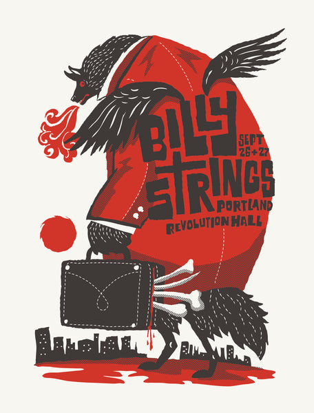BILLY STRINGS 2019 Revolution Hall Portland Poster