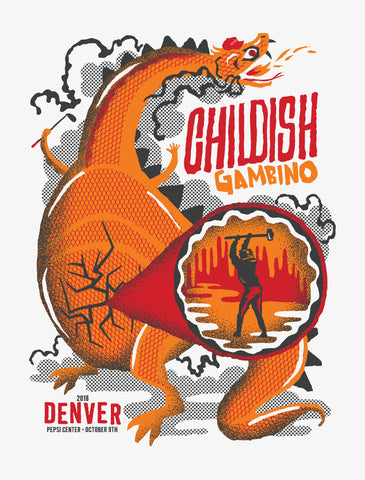 CHILDISH GAMBINO Denver 2018 Poster