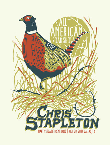 CHRIS STAPLETON All American Road Show Poster