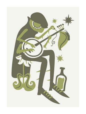 BANJO AND GOOD BOURBON Giclee Art Print