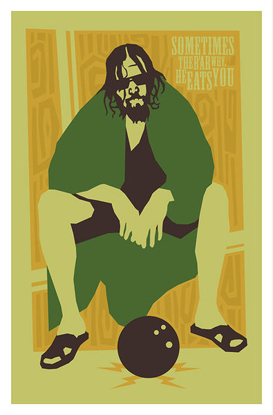 The Big Lebowski - Sometimes the B'ar - Giclee Art Print