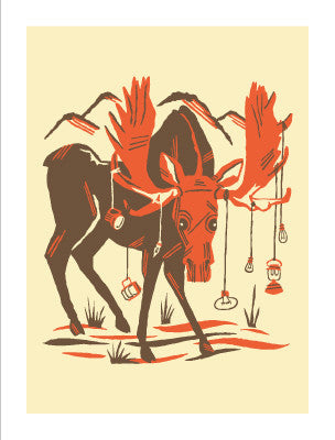 THE BULL MOOSE Giclee Art Print