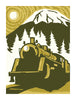MOUNTAIN TRAIN Giclee Art Print