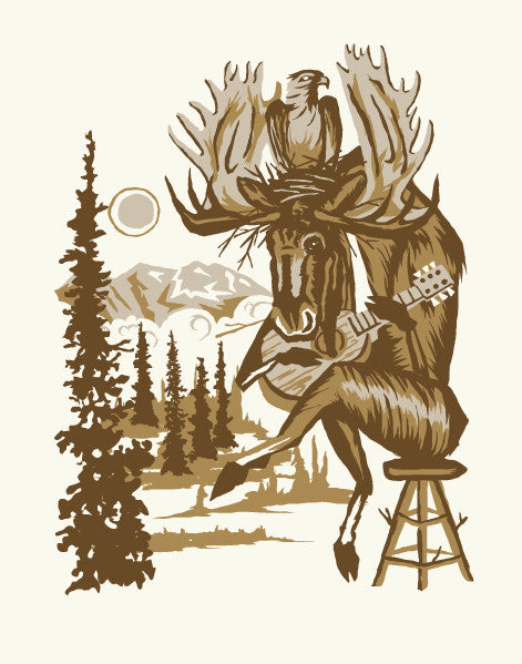 MUSIC MOOSE Giclee Art Print