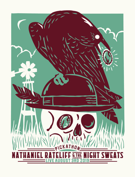 NATHANIEL RATELIFF & THE NIGHT SWEATS Pickathon 2019 Poster
