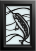 NARWHAL Cut Paper Art - Framed
