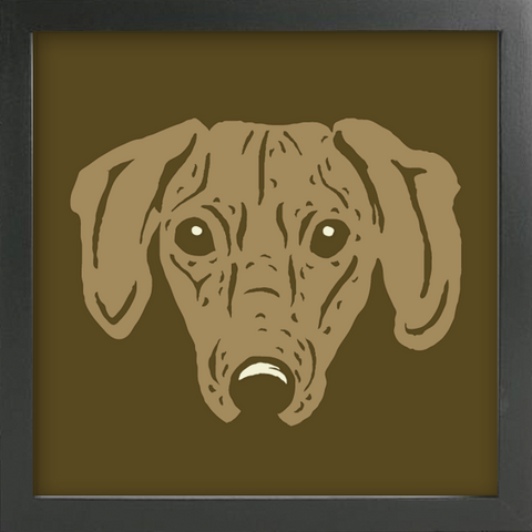 PET PORTRAITS Dachshund Cut Paper Art - Shadowbox Frame