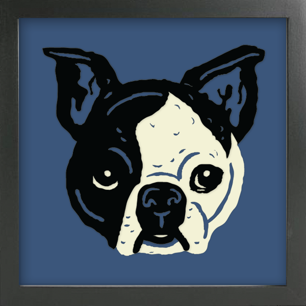 PET PORTRAITS French Bulldog Cut Paper Art - Shadowbox Frame