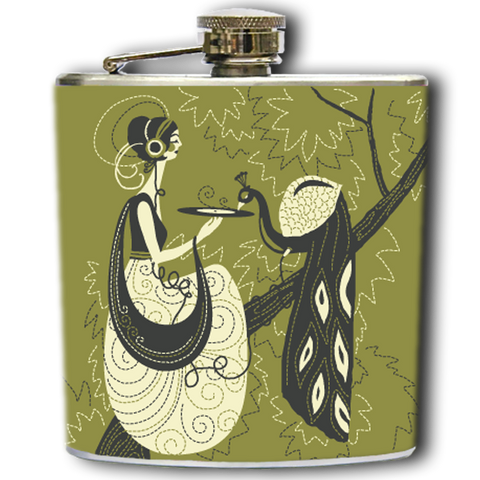 MAIDEN AND THE PEACOCK FLASK