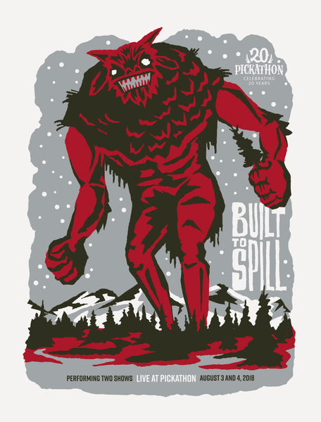 BUILT TO SPILL Pickathon 2018 Poster