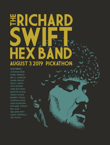 RICHARD SWIFT HEX BAND Pickathon 2019 Poster