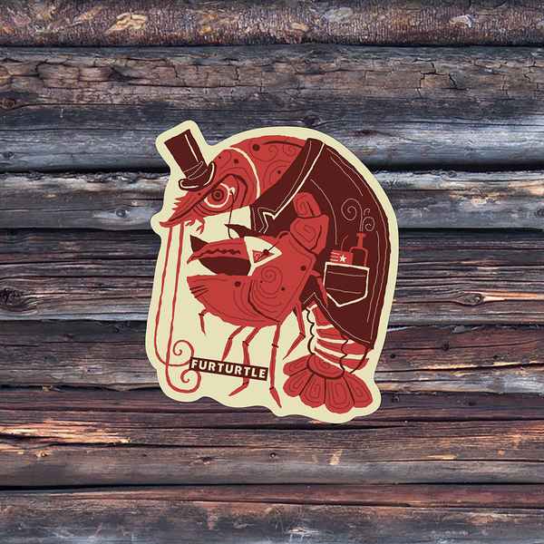 Dandy Lobster Vinyl Sticker