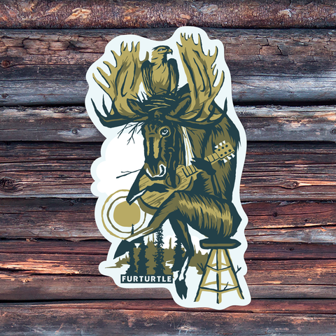 Moosician's Pal Vinyl Sticker