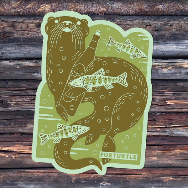 Rogue River Otter Vinyl Sticker
