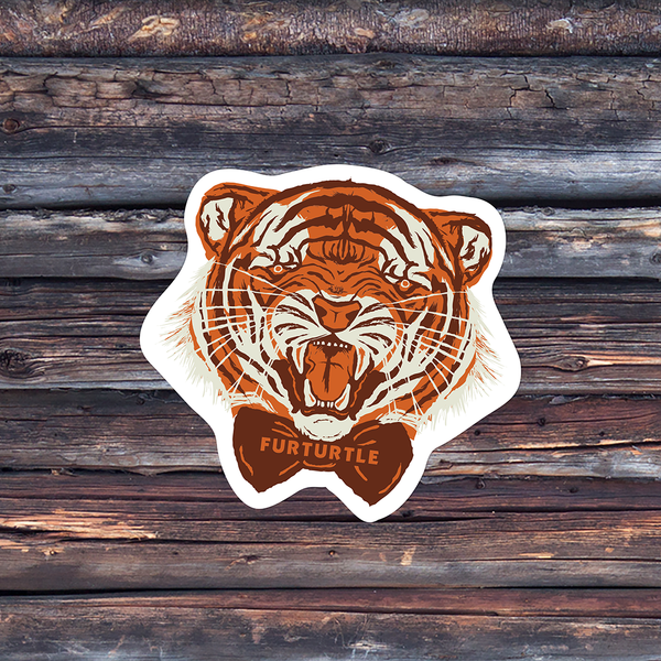 Fancy Tiger Boy Vinyl Sticker