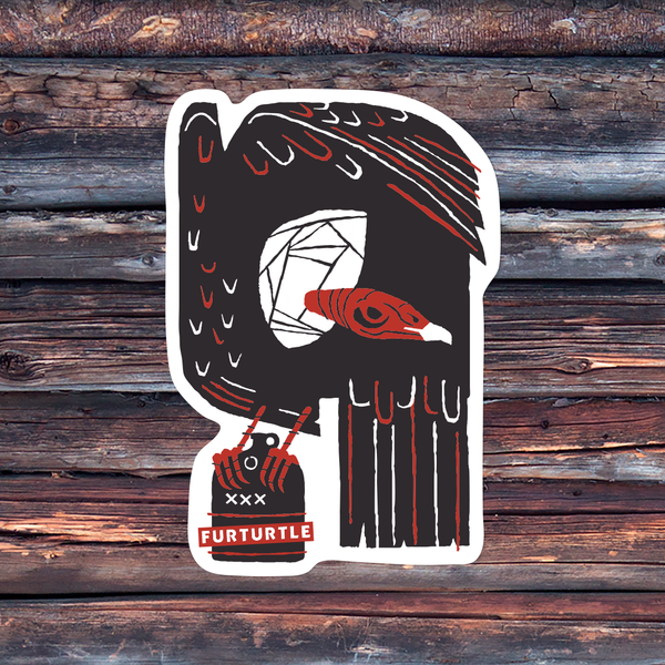 Moonshine Vulture Vinyl Sticker