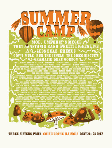 Summer Camp 2017 Full Lineup