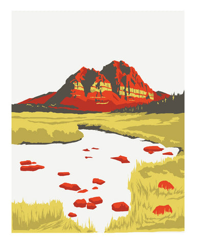 UINTA CATHEDRAL Giclee Art Print