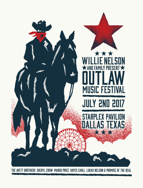 WILLIE NELSON and the FAMILY OUTLAW MUSIC FESTIVAL Poster