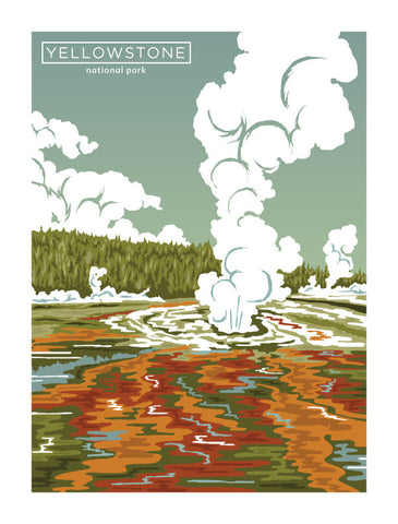 YELLOWSTONE Giclee Art Print