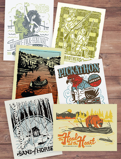Screen Printed Gigposters