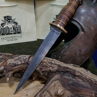 Damascus Randall Style Dagger,Damascus Dagger- Tooth and Nail Knives