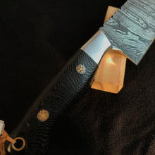 5.5 in. Custom Damascus Chef Knife,Kitchen- Tooth and Nail Knives