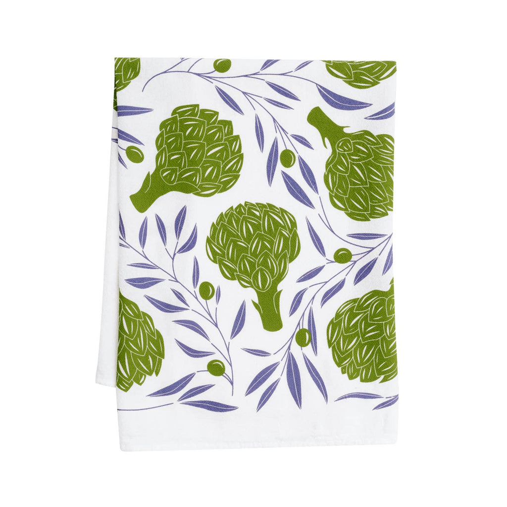 Artichokes + Olives Tea Towel / Kitchen Decor / Midwest Made