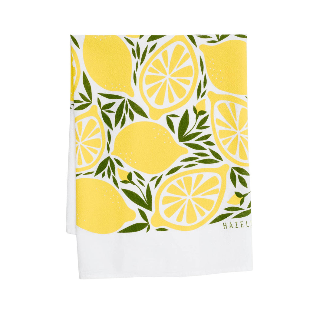 Lemon Tea Towel / Kitchen Decor / Midwest Made