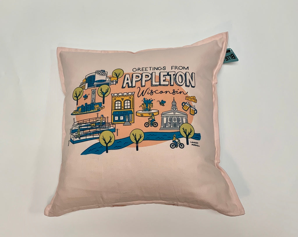 Appleton Wisconsin Pillow Cover