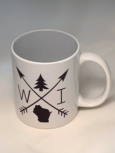 Wisconsin arrow mug