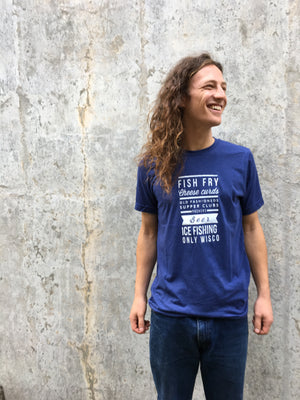 Fish Fry Cheese Curd Triblend Unisex Tshirt