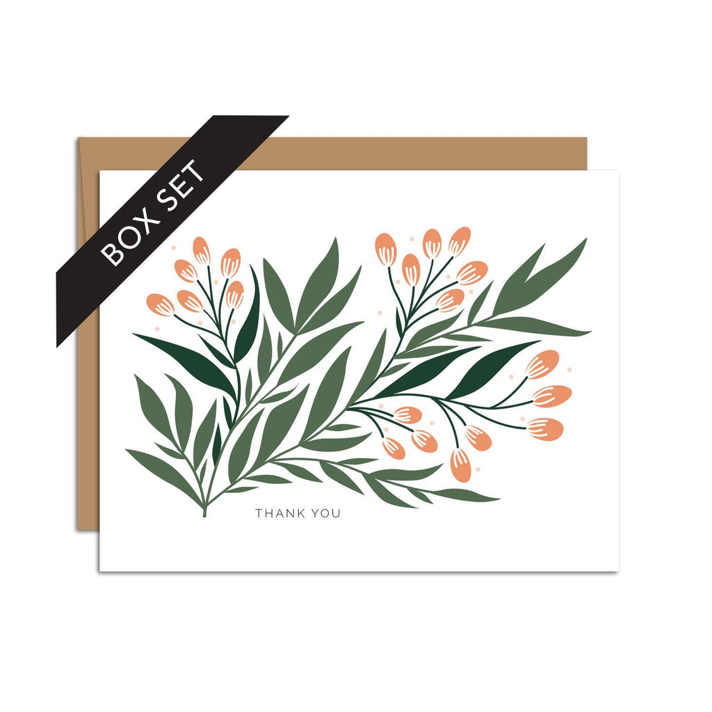"""Thank You"" Seeded Branch / Thank You / BOX SET OF 8"