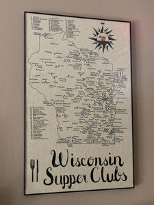 Wisconsin Supper Club Map