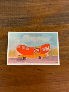 Wienermobile Sticker