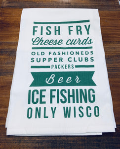 Fish Fry Cheese Curds Dishtowel