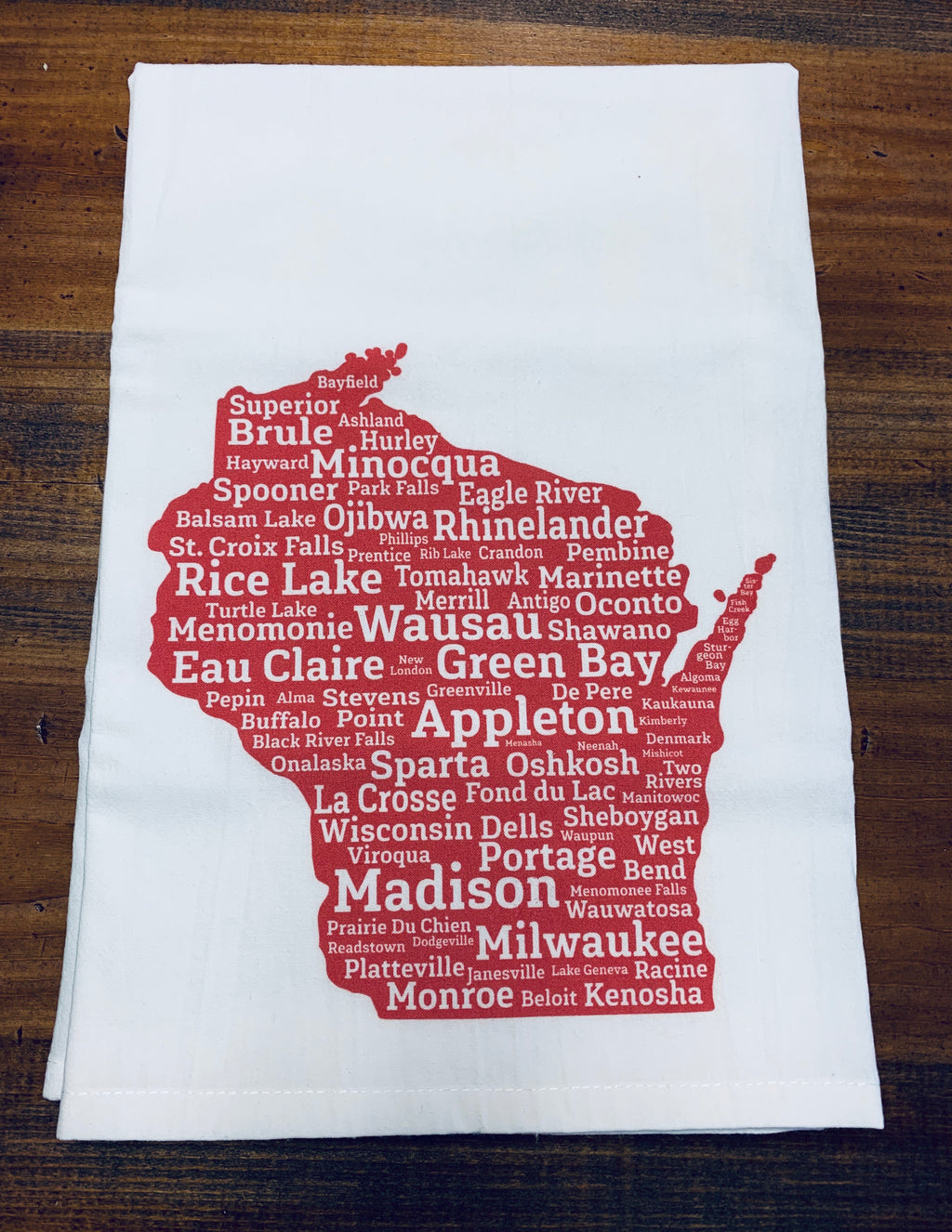 Wisconsin Cities Dishtowel