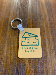 Cheesehead Forever keychain
