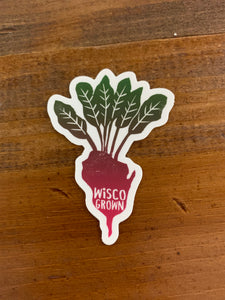 Wisco Grown Beet Sticker