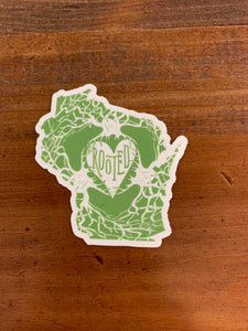 Wisconsin Rooted Sticker
