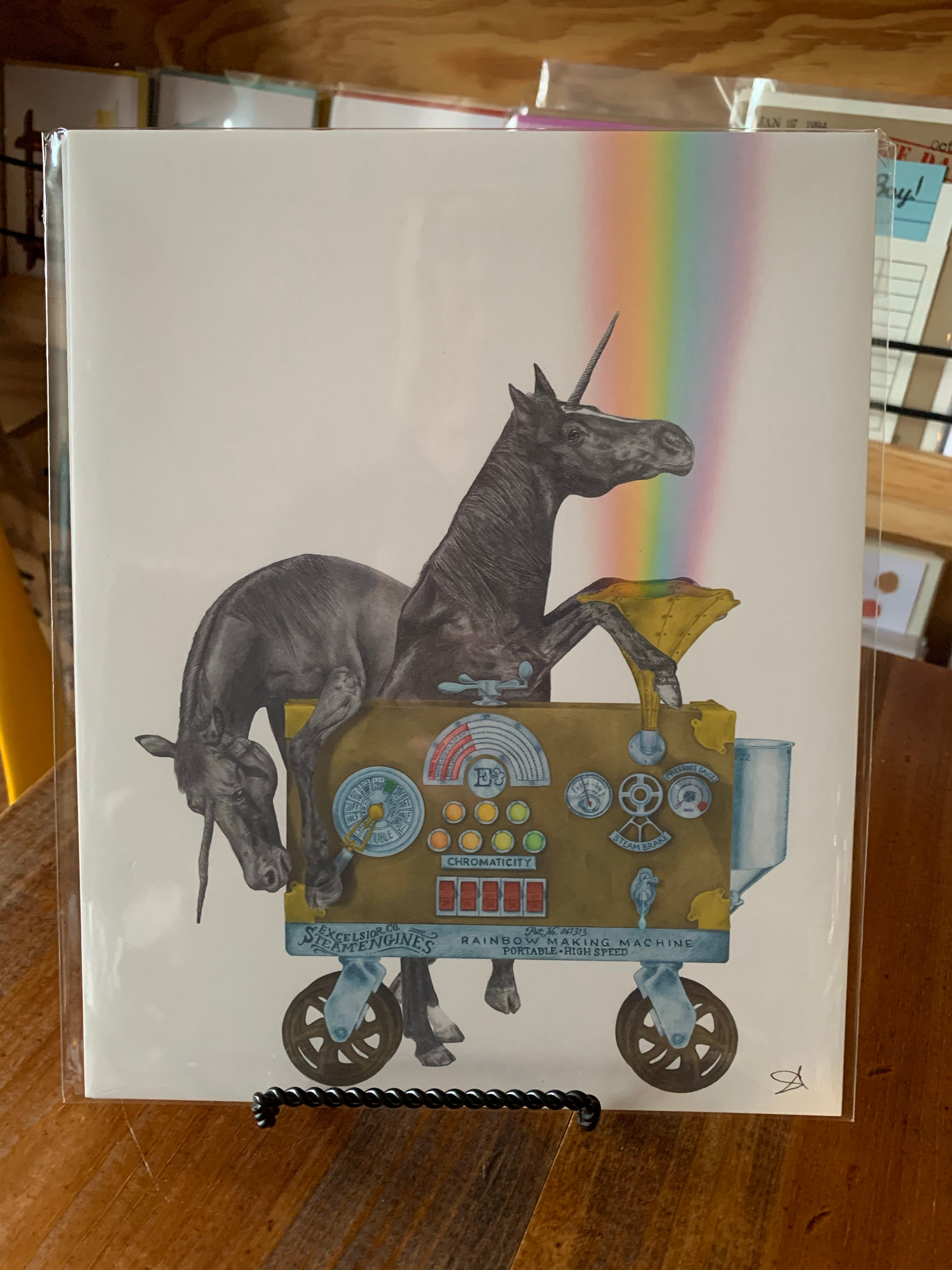 Unicorn print by Central and Gus