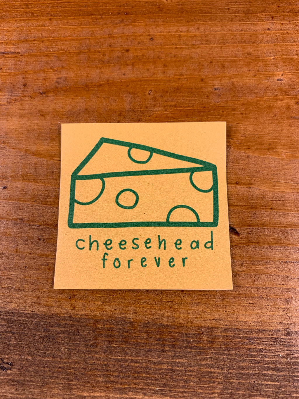 Cheesehead Forever Sticker